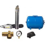 Kit complet sistem hidrofor, pompa submersibila SKM150, rezervor de 50 litri , presostat, racord 5 cai, manometru