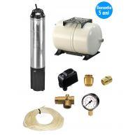 Kit complet sistem hidrofor, pompa submersibila Dab Idea 100m, rezervor de 60 litri gws, presostat, racord 5 cai, manometru,supapa ,niplu