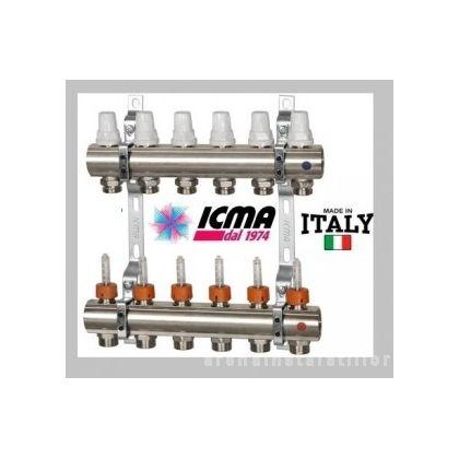 Distribuitor incalzire in pardoseala cu debitmetre ICMA - K013 8 cai