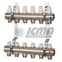 Set distribuitor/colector, cu robineti termostatici si robineti micrometrici - ICMA K005 7 cai