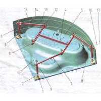 Cadru H sudat pentru fixare cada pe colt Fibrocom