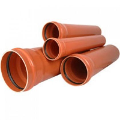TEAVA CANAL PVC CU MUFA SN2 D=125x2,5 L=6m.