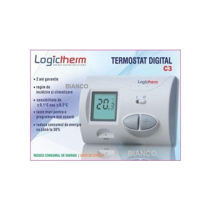 Termostat ambient C3 cu fir