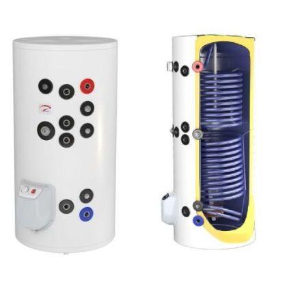 Boiler otel termoelectric cu 2 serpentine vertical ELDOM 750